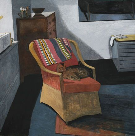 Cat on a Chair - Charles Burton