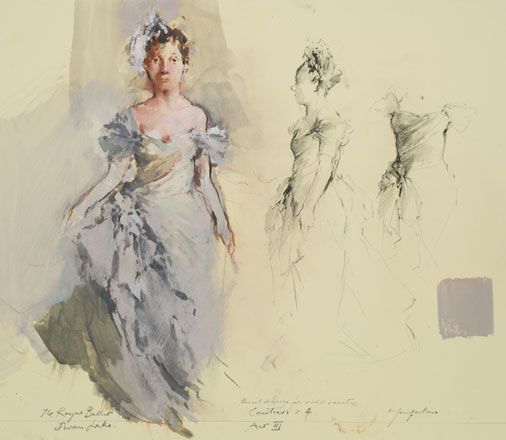 Courtier, Act III, Woman in Evening Dress, Swan Lake - John Macfarlane