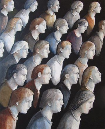 Heads Looking - Evelyn Williams