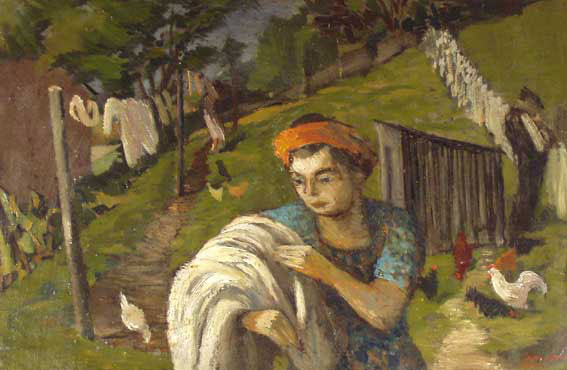 Hanging Out the Washing - John Elwyn
