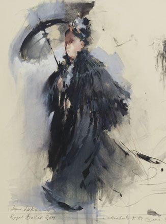 Queen's Attendant with Parasol, Act I, Swan Lake - John Macfarlane