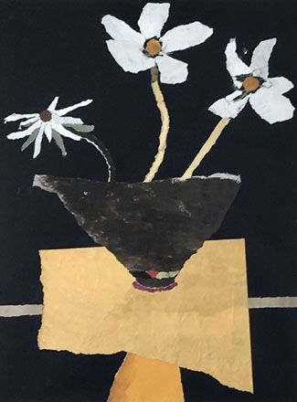 Three White Flowers - Rosemary Burton