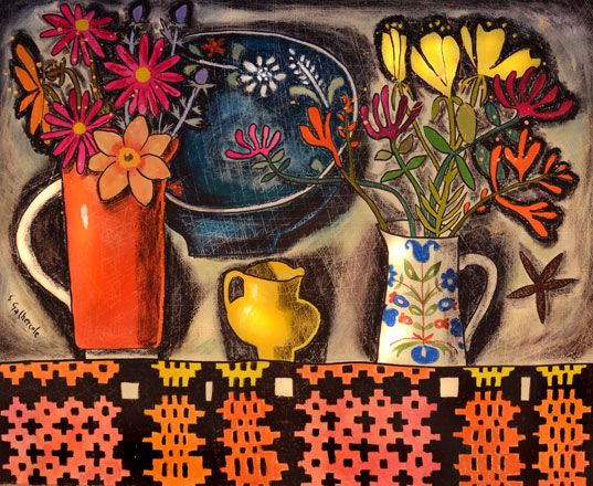 Still Life with Alpine Dish - Susan Gathercole