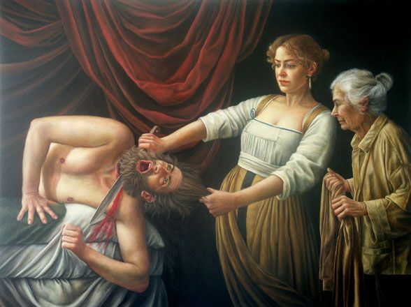 Judith Beheading Holofernes, after Caravaggio - Sally Moore
