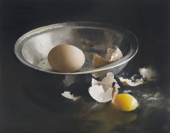 Silver Bowl and Broken Eggs I - John Macfarlane
