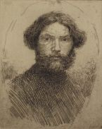 Portrait of the Artist: Bust, in an oval (State II)
