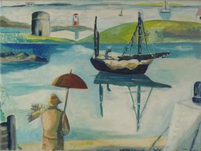 Figure and Boat - Emrys Williams