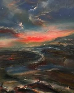 Holyhead Bay at Sunset - Iwan Gwyn Parry