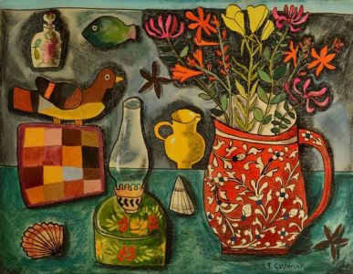 Still Life with Breton Patchwork - Susan Gathercole